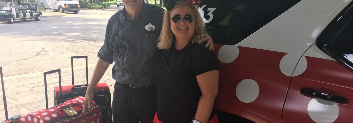 Margaret Takes A Minnie Van at Walt Disney World