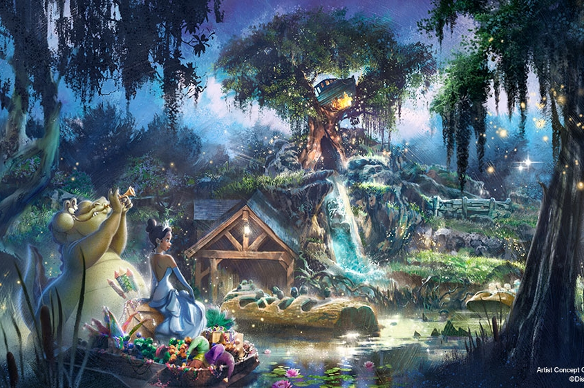 New Princess and the Frog Attraction Ride Splash Mountain