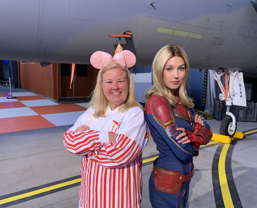 Meeting Marvel Characters at Disneyland