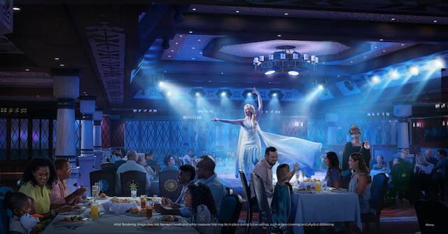 Disney Cruise Line Frozen Restaurant